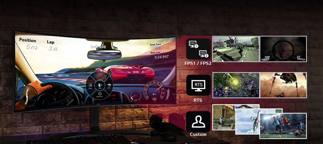 Monitor LG 34UC88-B 3screen split pip