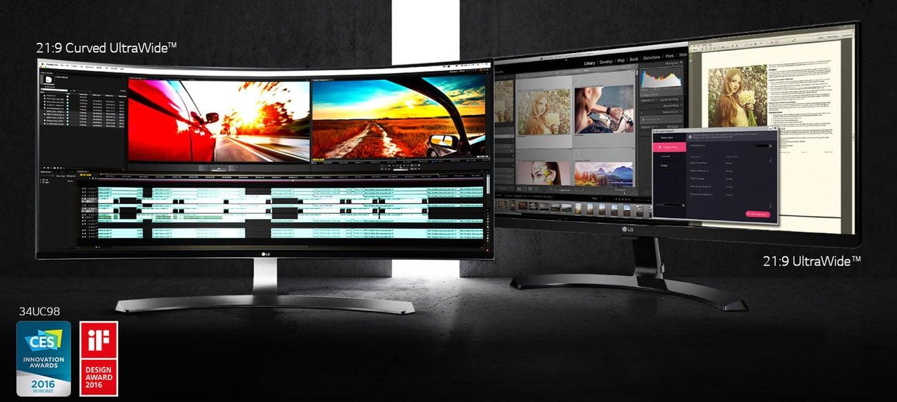 Monitor LG 34UC88-B pokrycia palety odwzorowanie kolorów