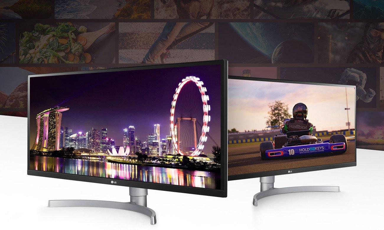 LG 34WK650-W Gamingowy UltraPanoramiczny monitor 21:9 z głośnikami