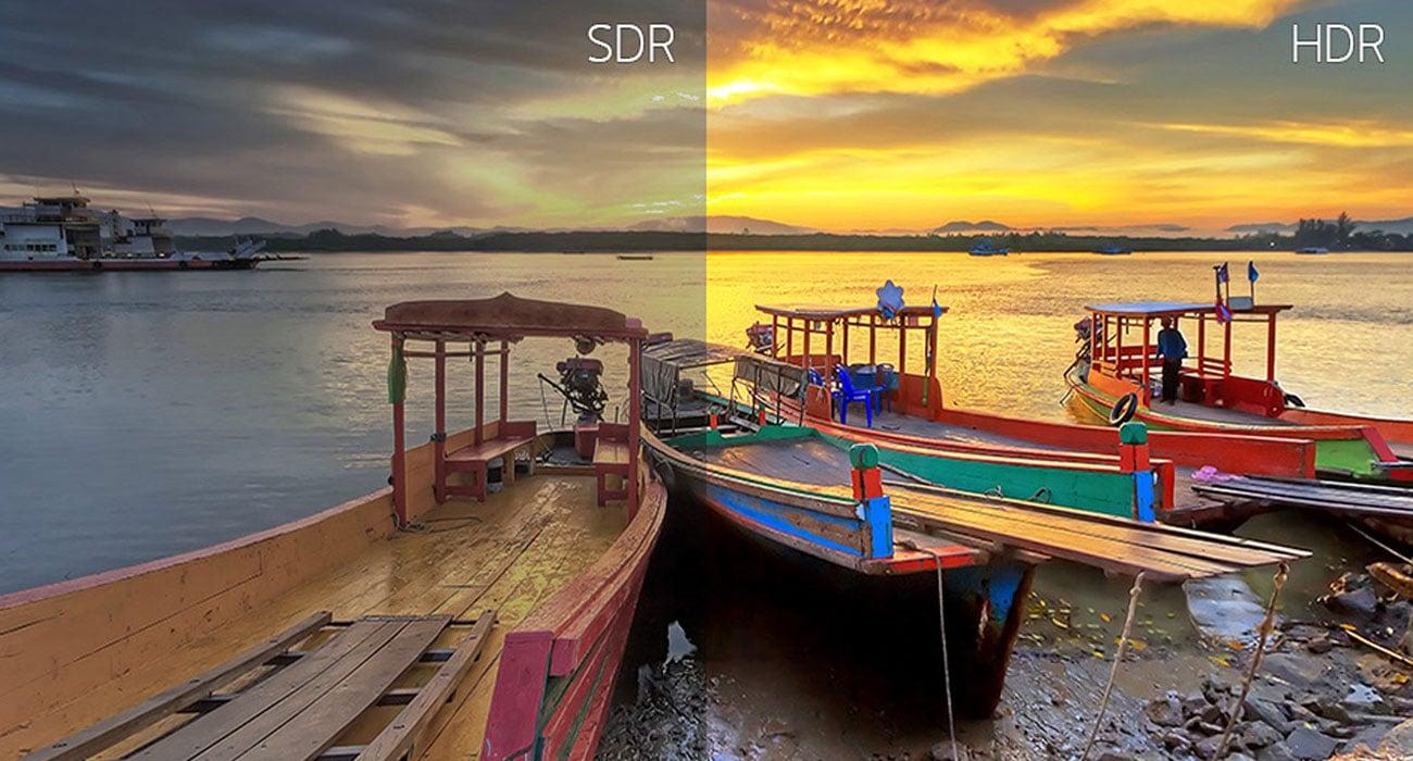 LG 34WK650-W Szczegółowy kontrast HDR Effect do treści SDR