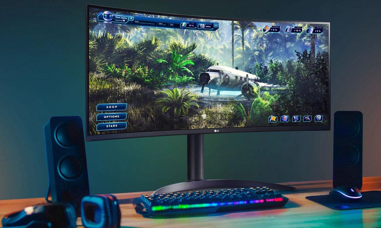 Wszechstronny monitor do domu i biura LG 34WP65C-B