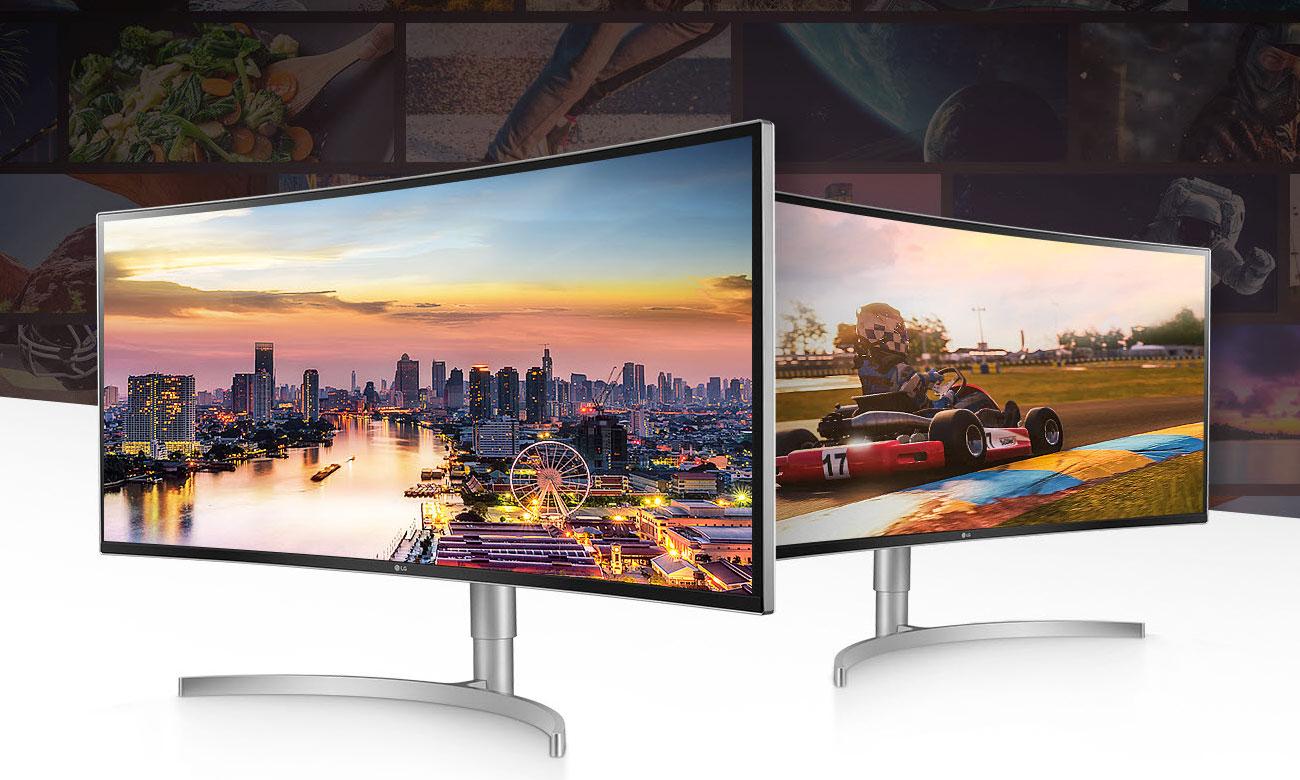 LG 38WK95C-W UltraPanoramiczny, zakrzywiony monitor LG z głośnikami