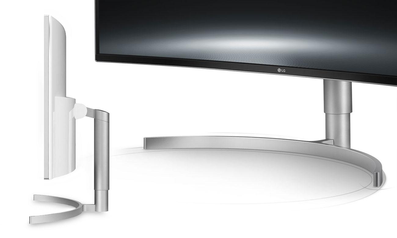 LG 38WK95C-W Wszechstronna elegancja Podstawka Edge-Arc