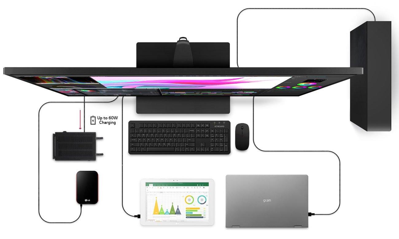 Wszechstronny monitor do domu i biura LG 43UN700-B