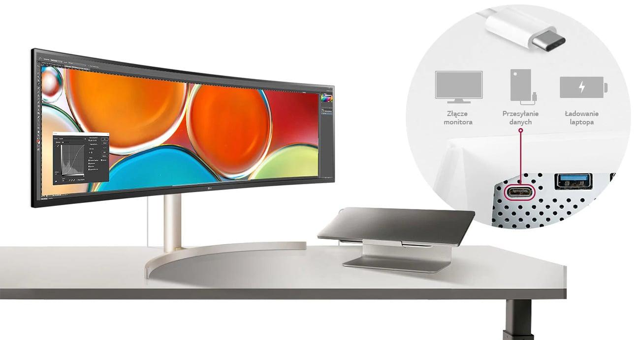 Monitor do domu i do biura LG 49WL95C-WE