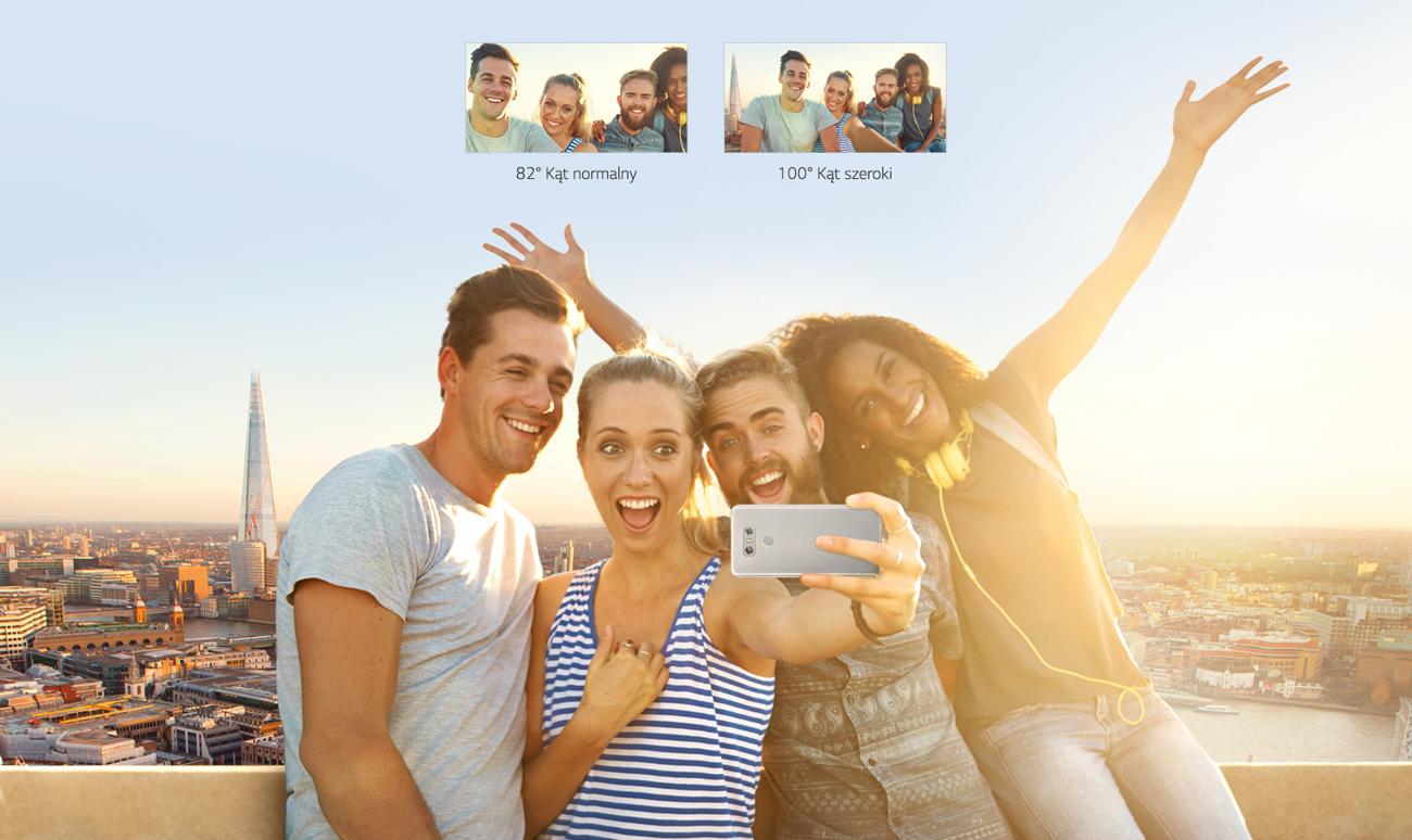 LG G6 szerokokątna kamera selfie
