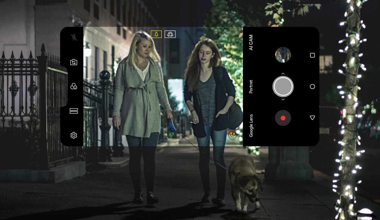LG G7 ThinQ podwójny aparat 16 mpix f/1.6 AI