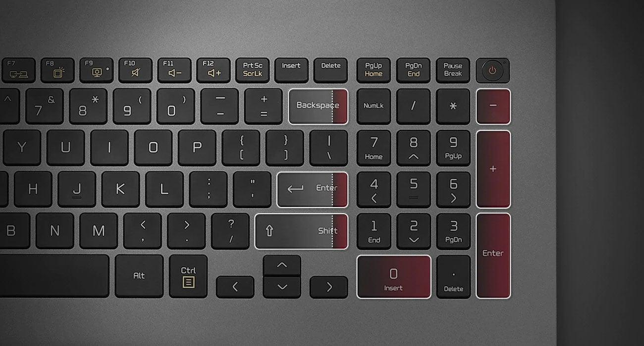 Wygodna podświetlana klawiatura