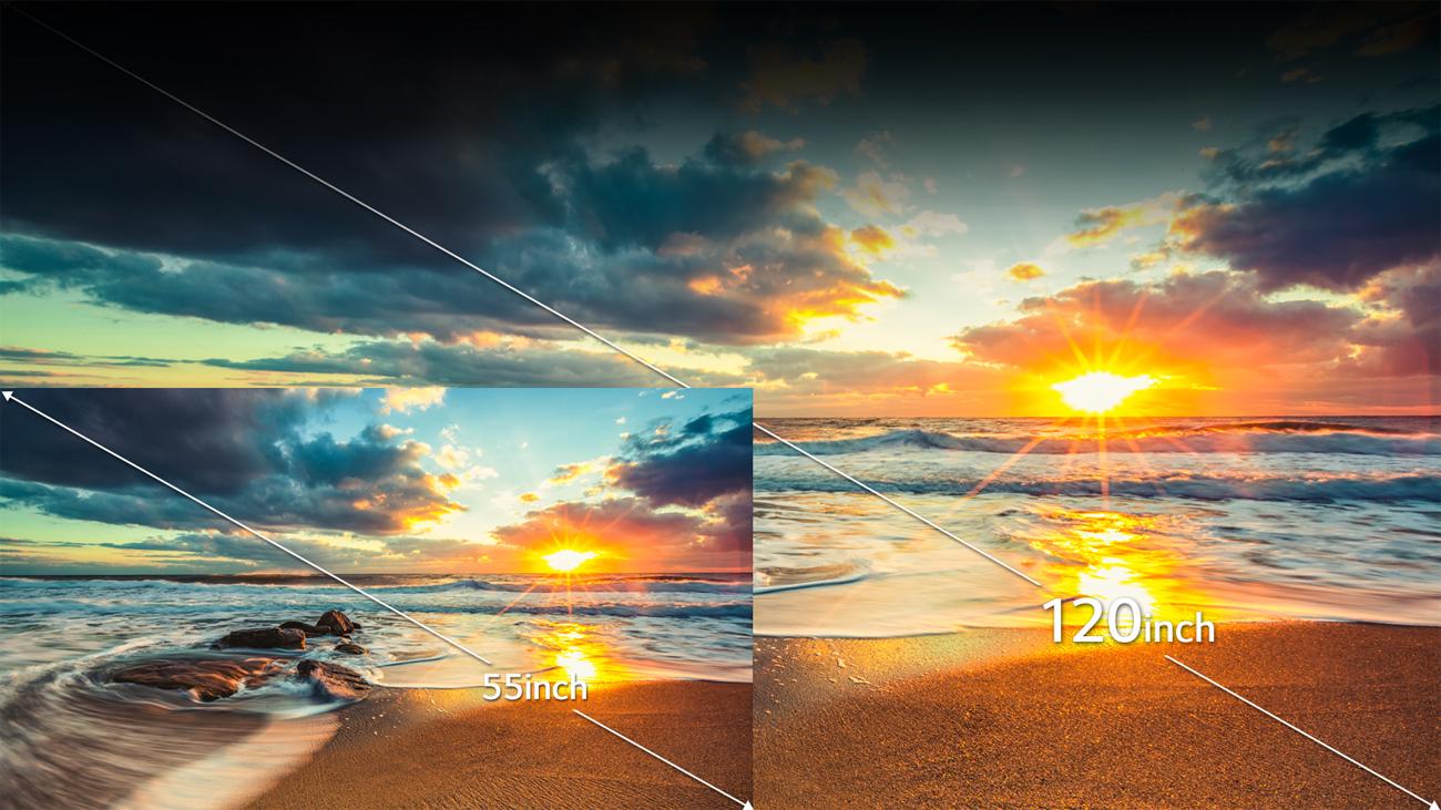 LG HF80JS Rozmiar Obrazu