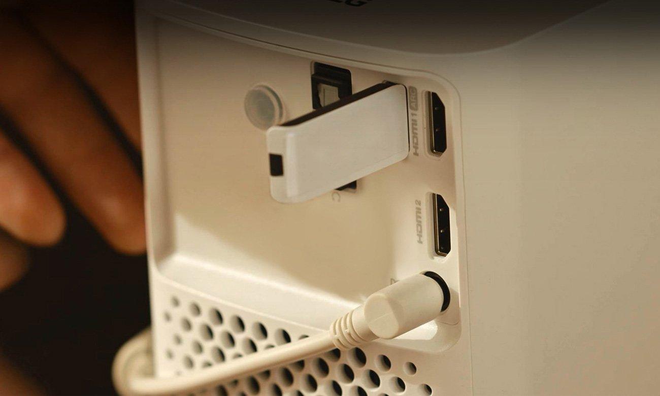 LG HF80JG Port USB