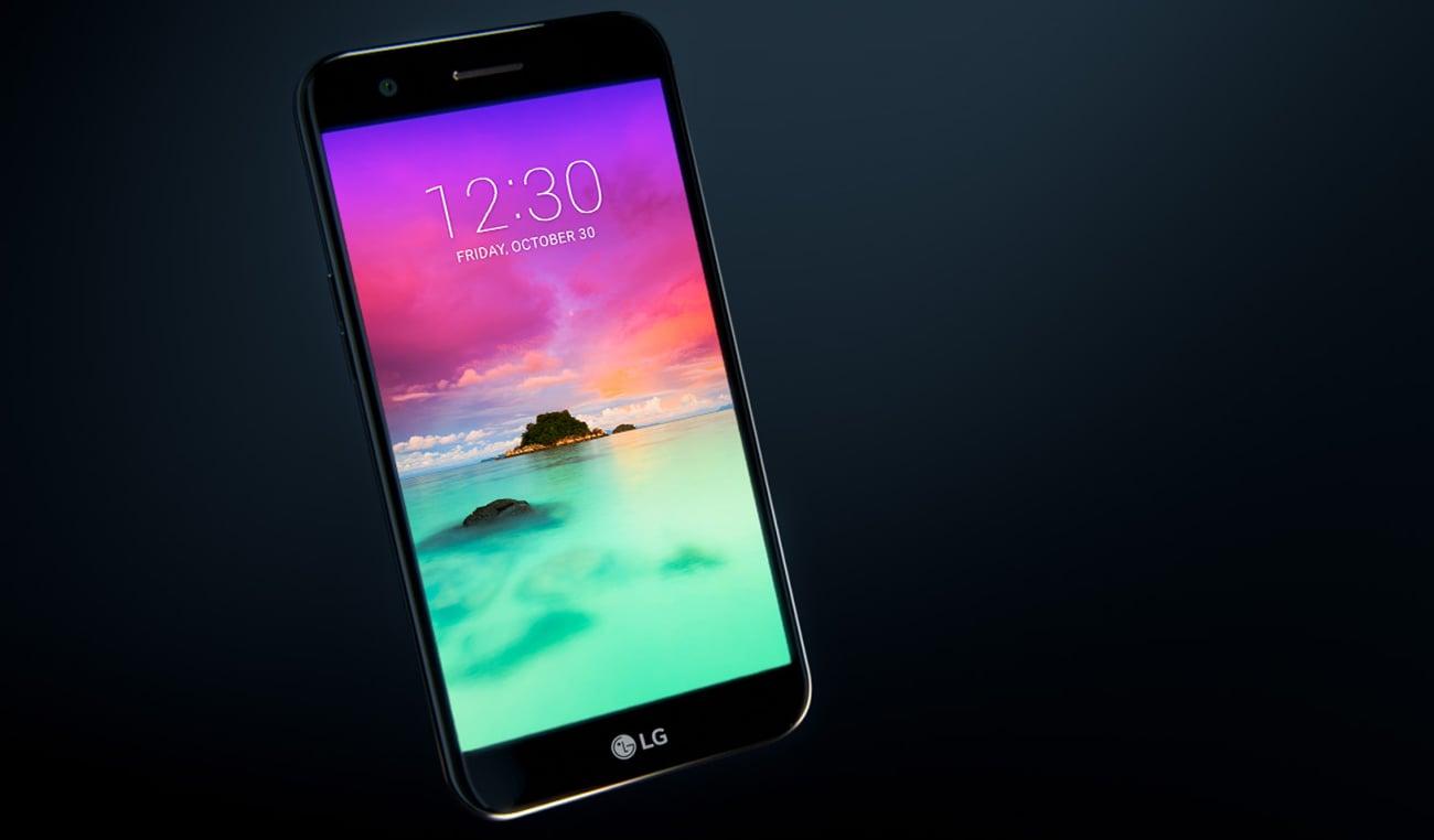 LG K10 (2017) stylowa czarna obudowa szkło 2.5D