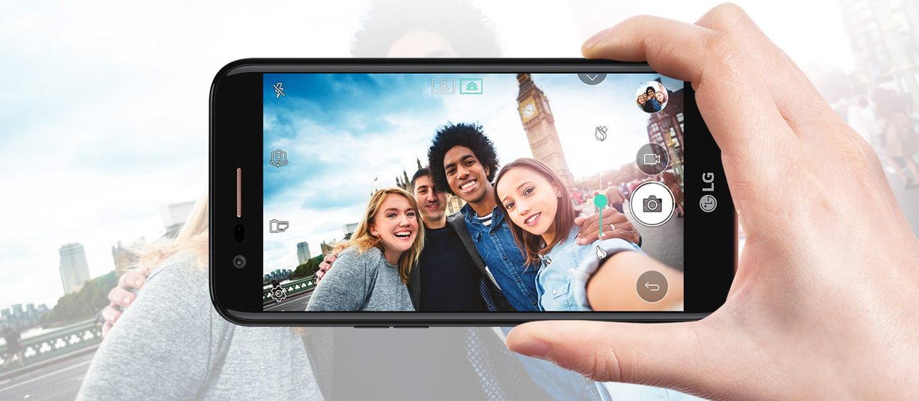 LG K10 (2017) selfie f2.2