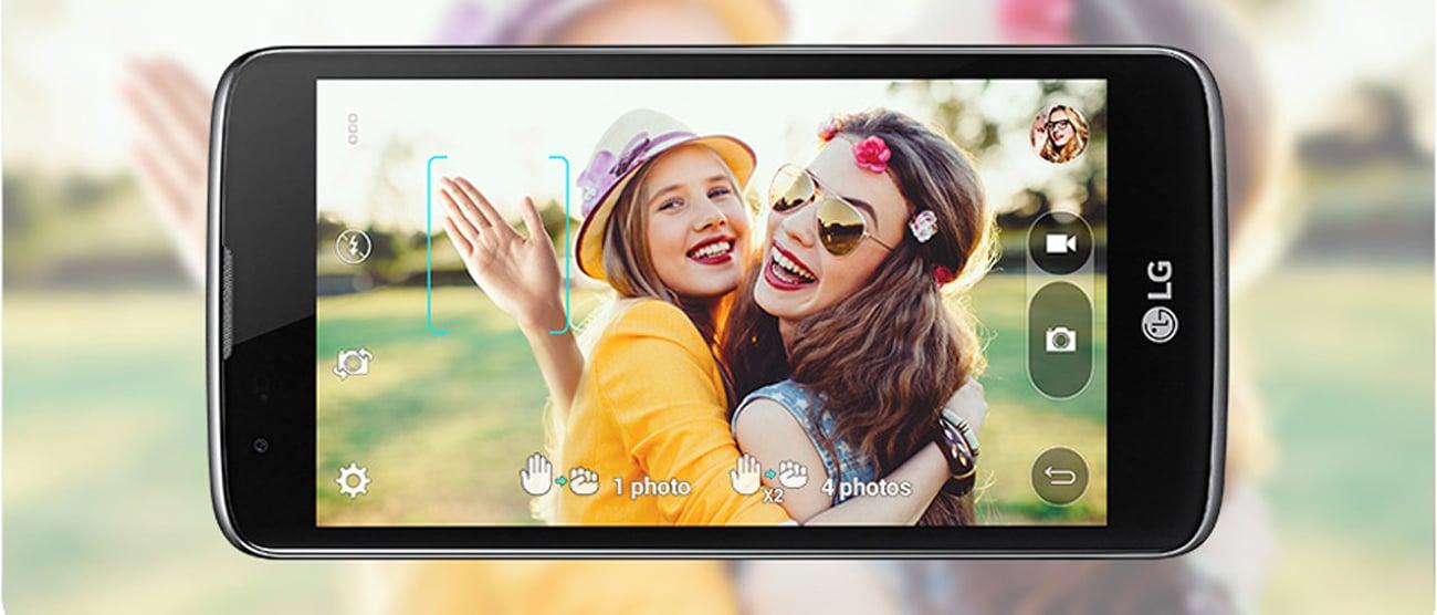 smartfon LG K8 LTE Dual SIM aparat przedni sterowany gestami