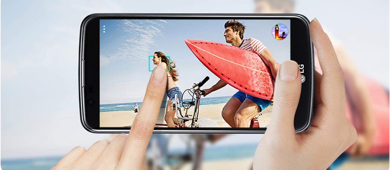 smartfon LG K8 LTE Dual SIM wykonywanie zdjęć jednym dotknieciem tap & shot