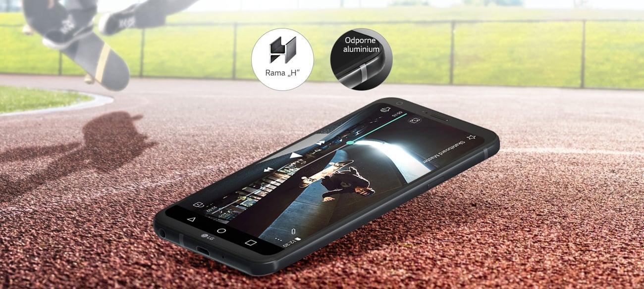 LG Q6 metalowa ramka