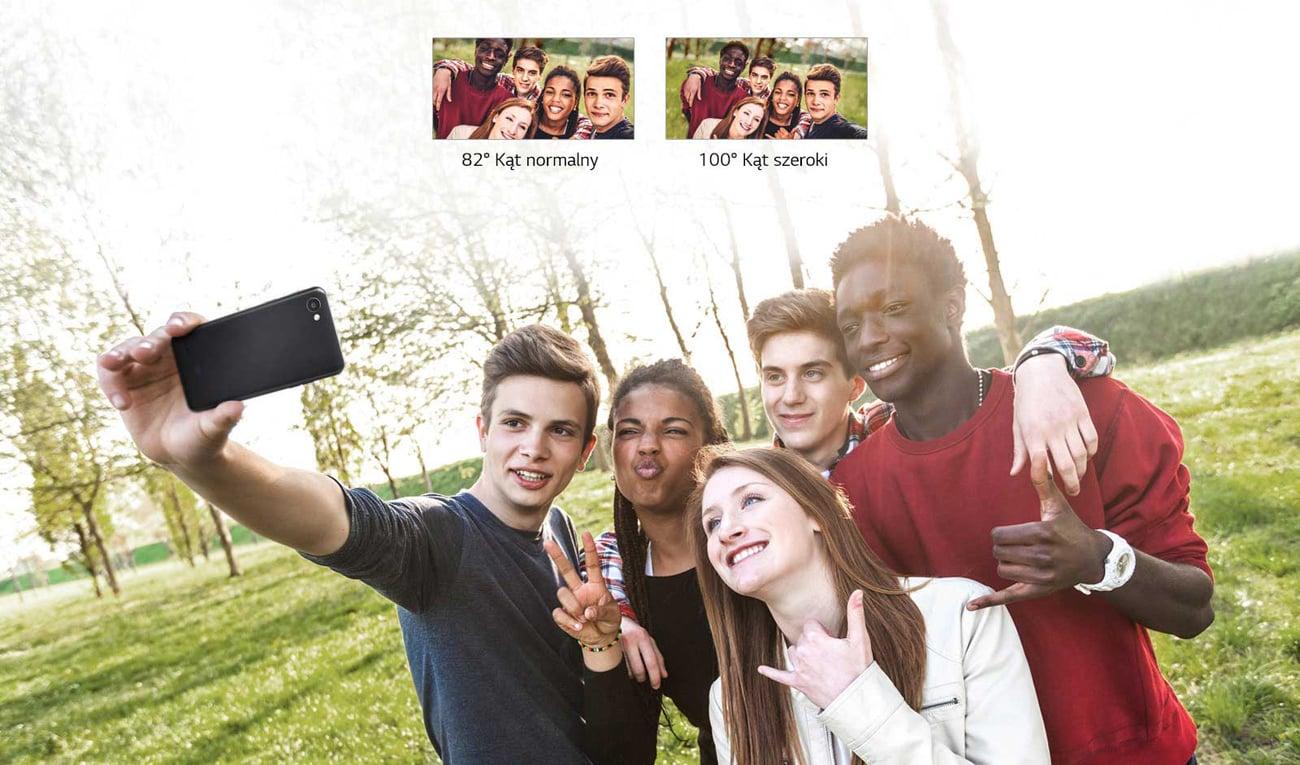 LG Q6 szerokie selfie