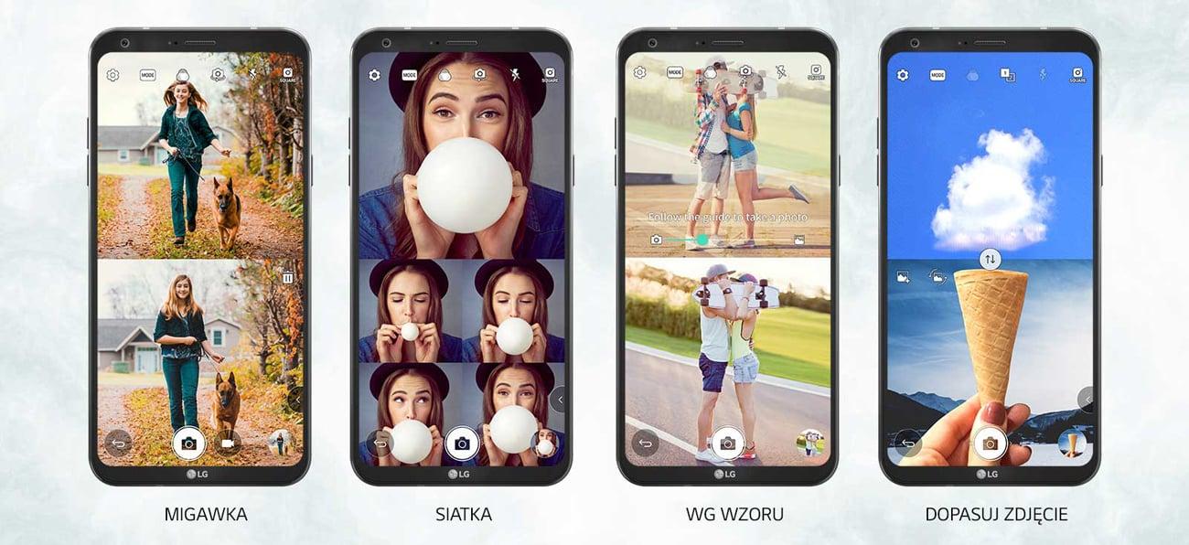 LG Q6 tryb zdjęć kwadratowych