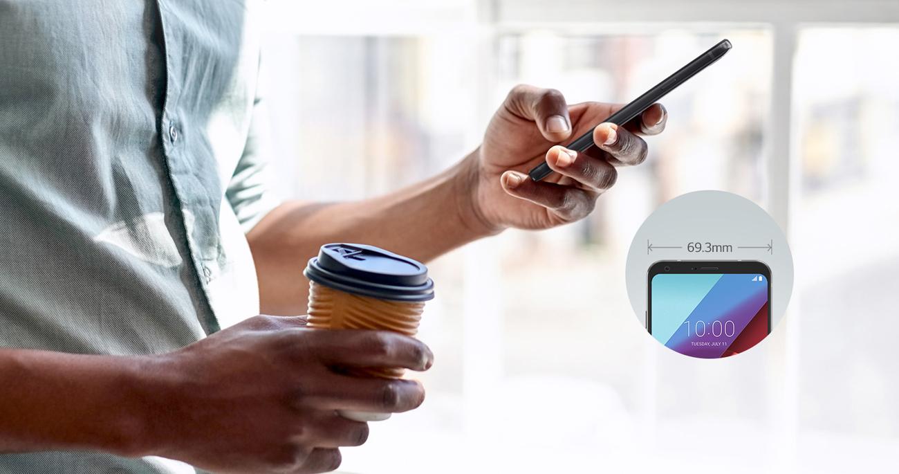 LG Q6 obsługa jedną ręką