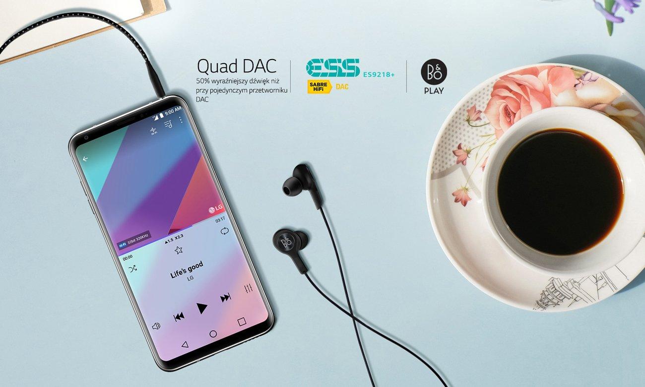 LG V30 poczwórny przetwornik Hi-Fi