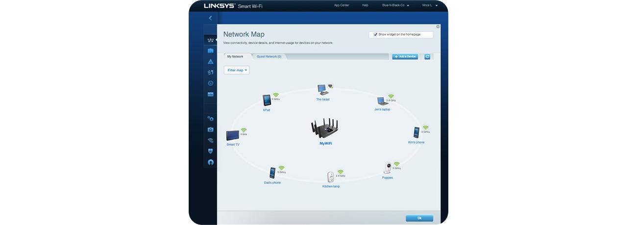 Linksys Smart Wi-Fi + Network Map