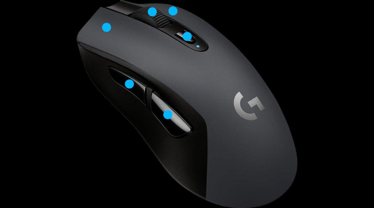 Logitech G603 Lightspeed Programowalne Przyciski