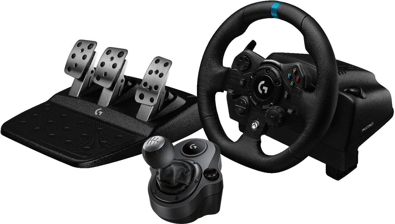 Zestaw kierownica + moduł przekładni biegów