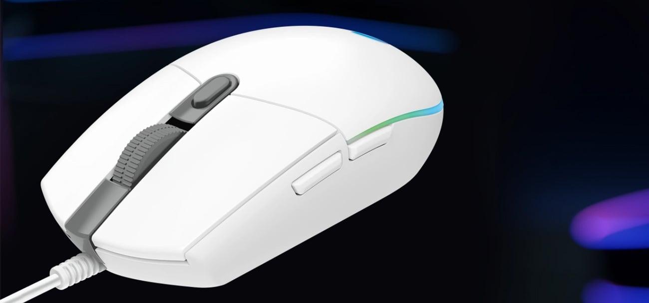 Mysz dla graczy Logitech G102 Lightsync beżowa
