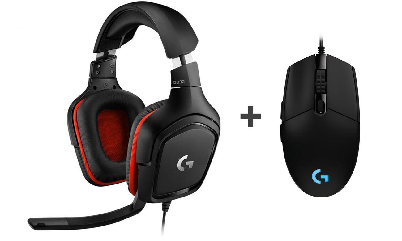 Zestaw słuchawkowy Logitech G332 + Mysz Logitech G102