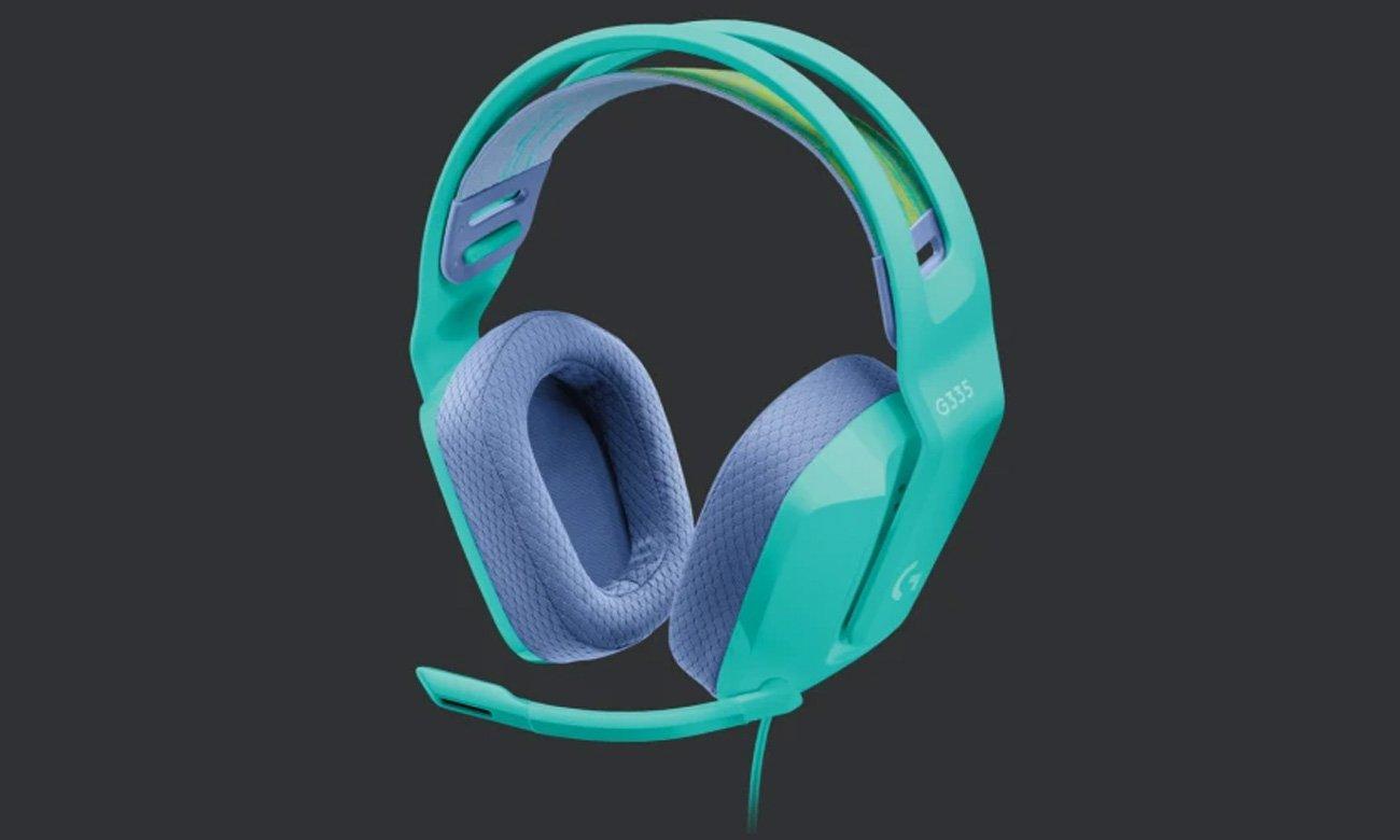 Zestaw słuchawkowy Logitech G335 Miętowy