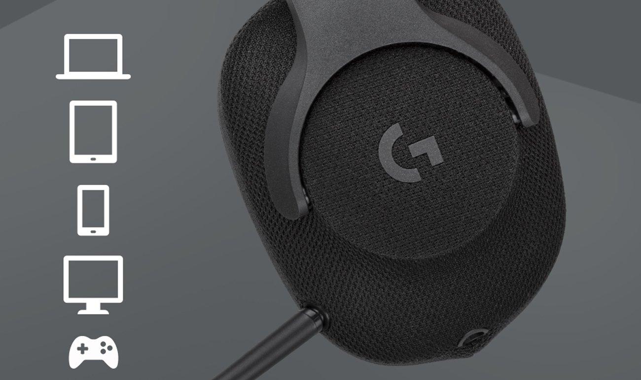 Słuchawki Logitech G433 Kompatybilność z wieloma platformami