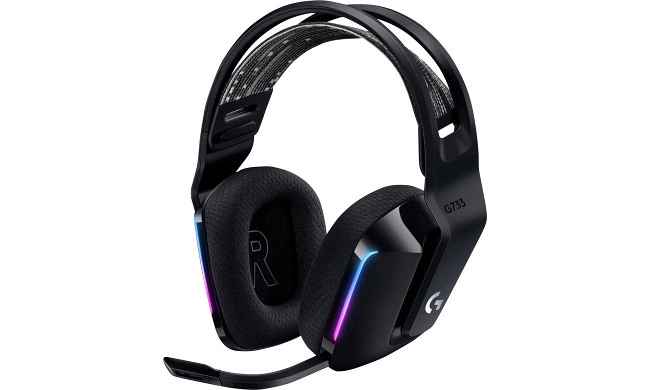 Słuchawki bezprzewodowe Logitech G733 Czarne