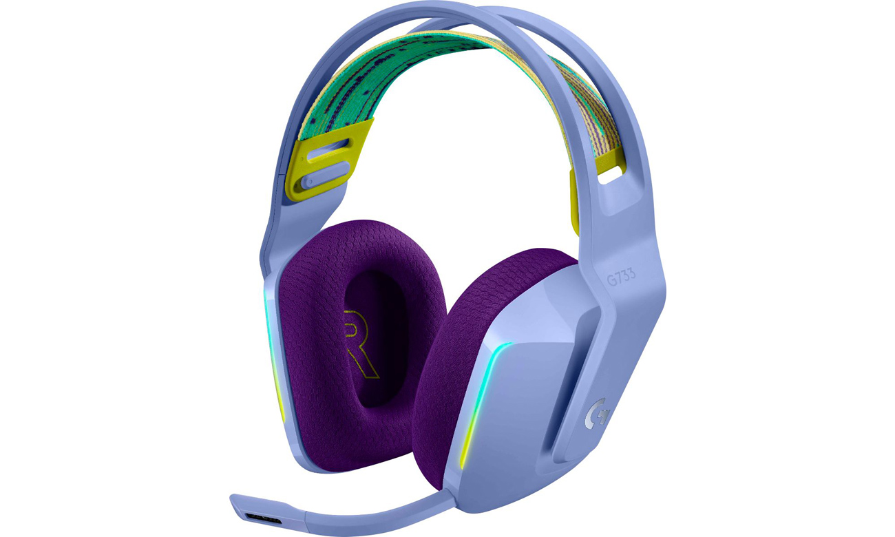 Słuchawki bezprzewodowe Logitech G733 Liliowe