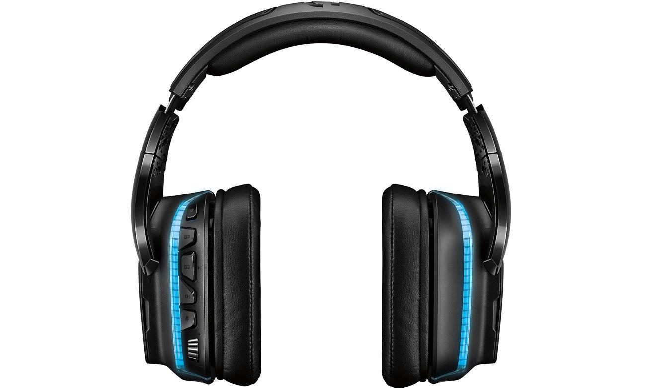 Der Kopfhörer mit Pro G 50 mm Lautsprecher aus Hybrid Mesh LOGITECH Gaming G935 Over Ear Wireless Headset 981 000744