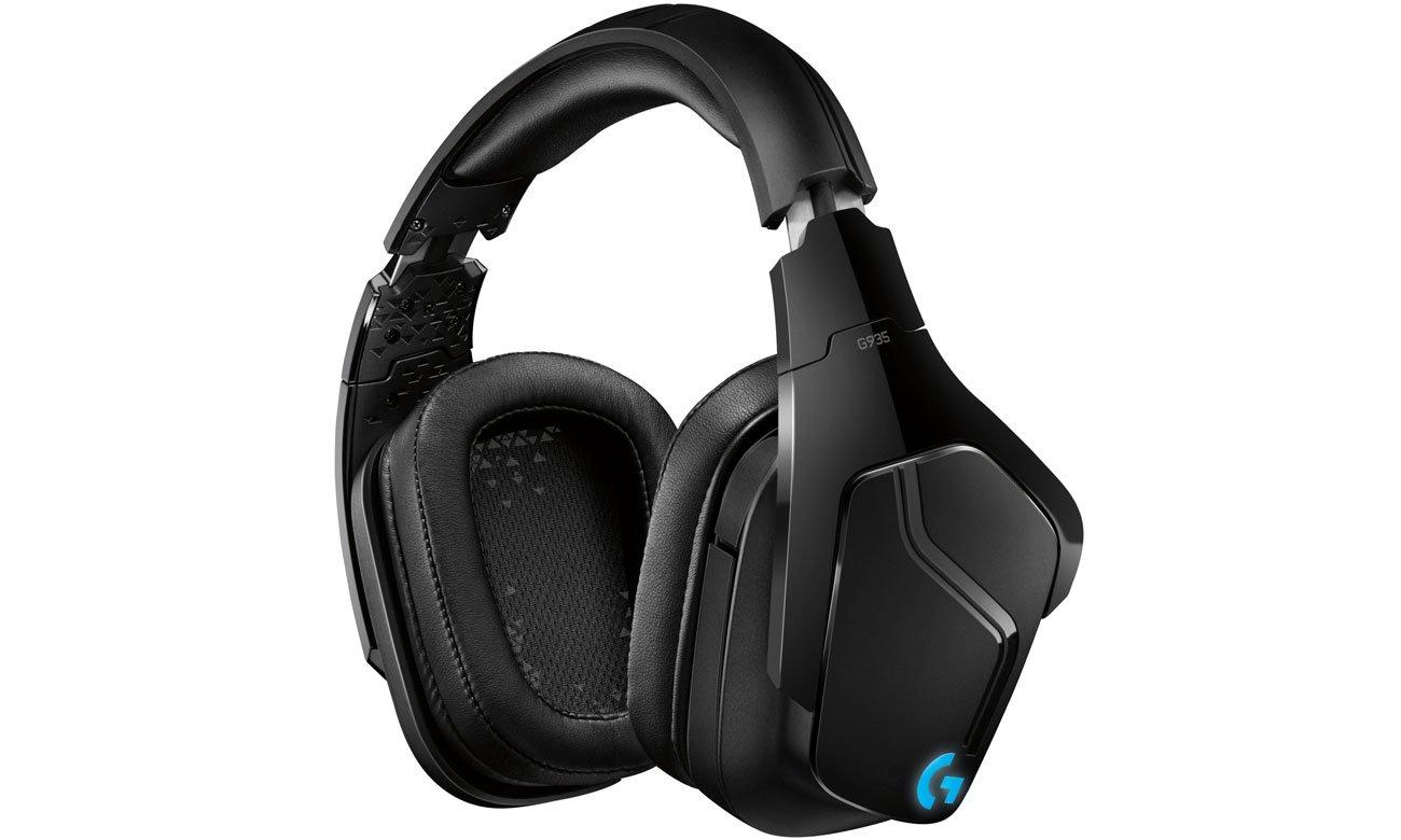 LIGHTSYNC RGB Beleuchtung G Tasten mit Makros Spielbefehlen Audio Voreinstellungen mit Logitech HUB Gaming Software im Kopfhörer G935 Over Ear Wireless Headset 981 000744