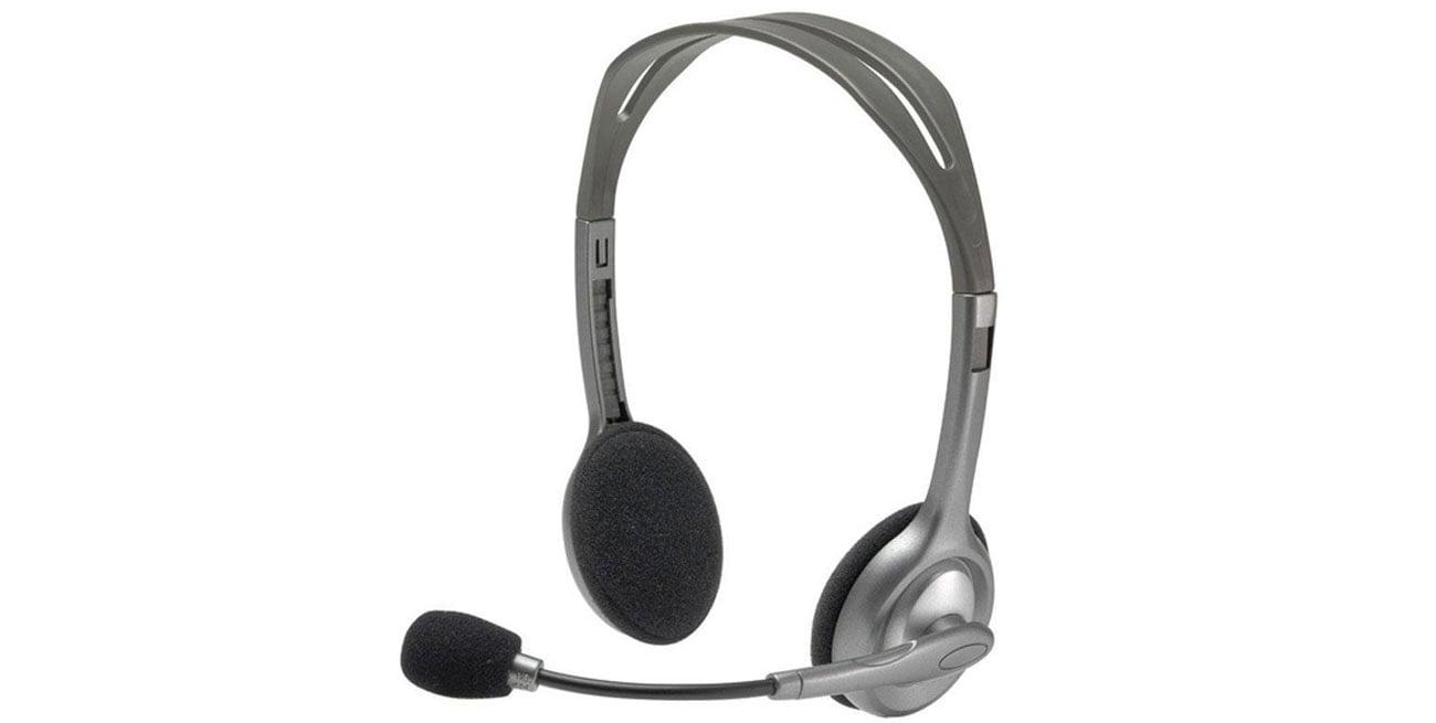 Logitech H110 Headset z mikrofonem stereofoniczny zestaw jakość dźwięku
