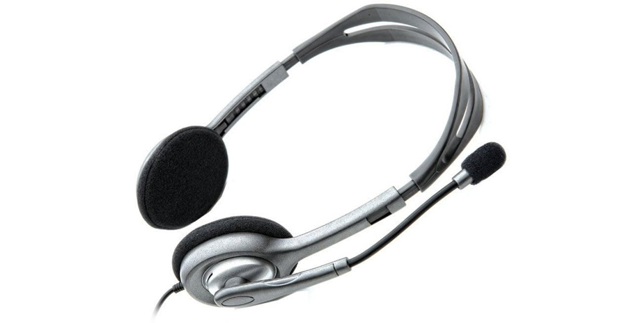 Logitech H110 Headset z mikrofonem regulowany pałąk