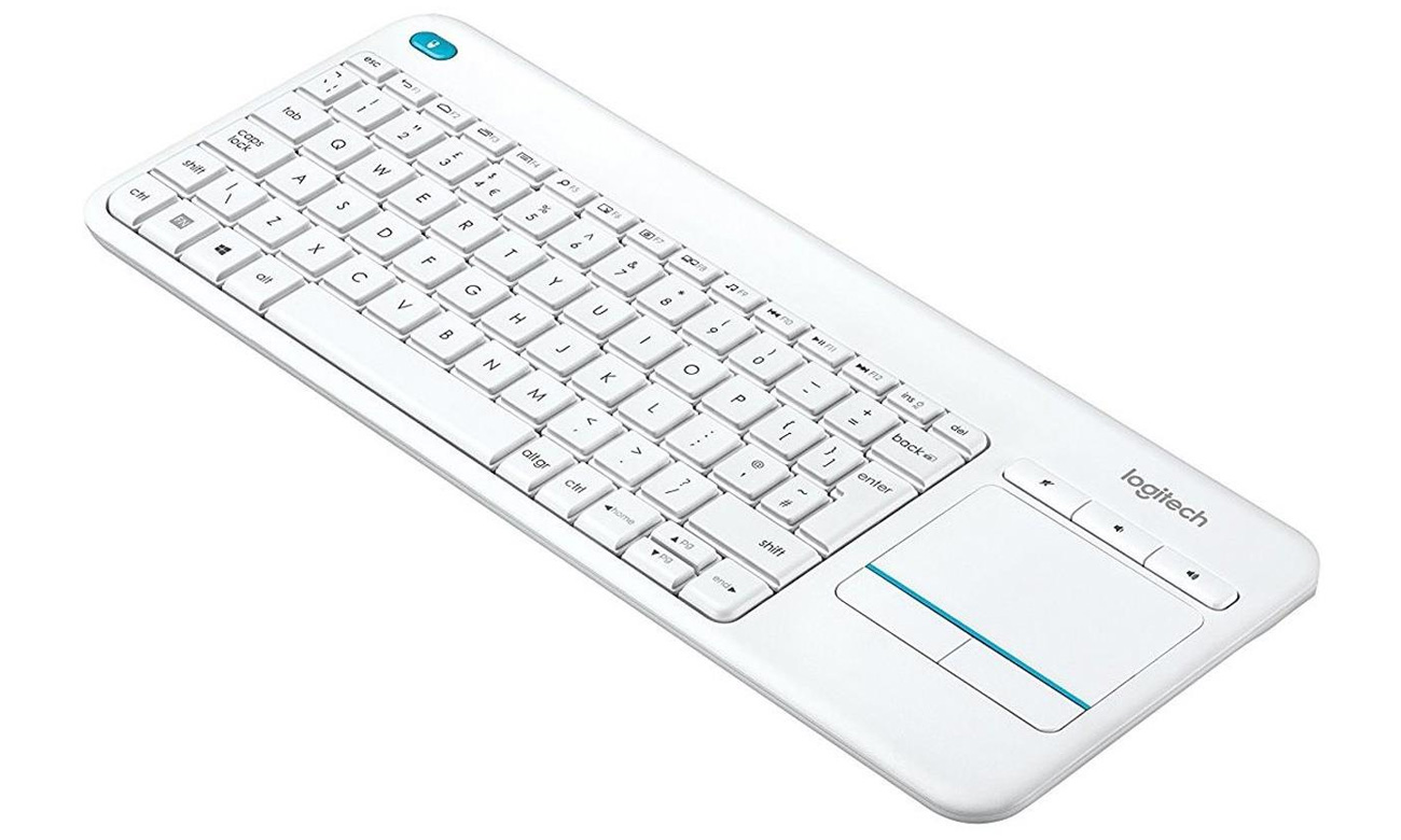 Logitech Wireless Touch K400 Plus klawisze multimedialne