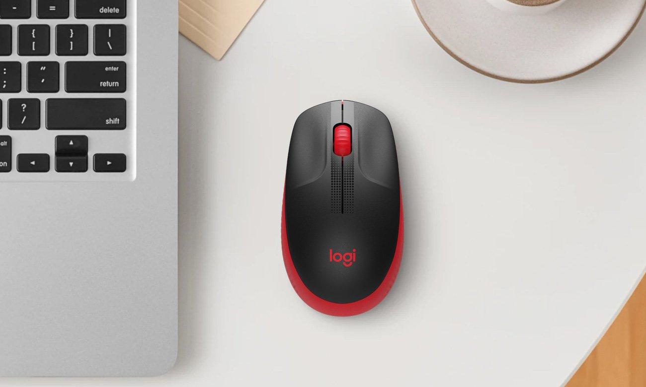 Mysz bezprzewodowa Logitech M190 czerwona