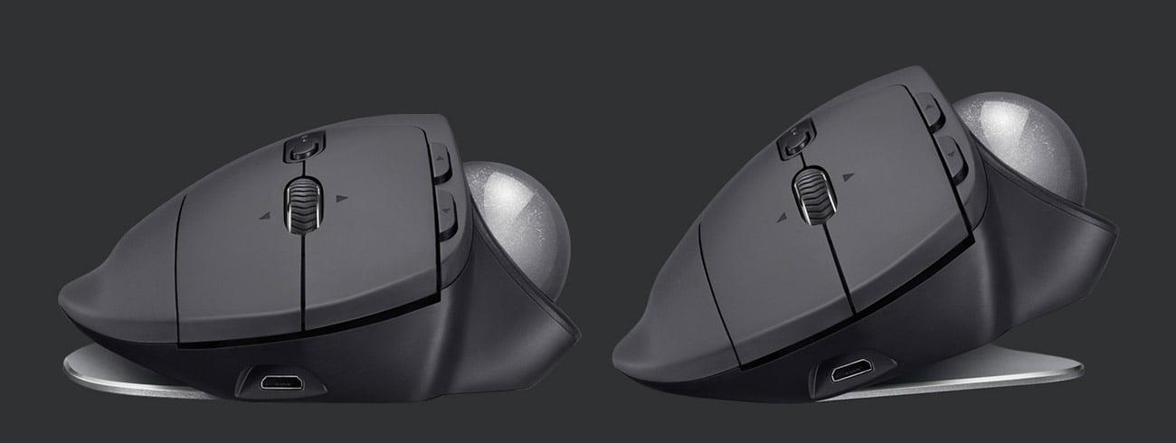 Logitech MX Ergo Wireless Trackball wybór kąta nachylenia