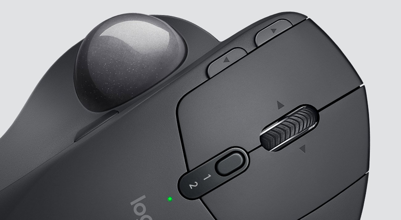 Logitech MX Ergo Wireless Trackball precyzyjne kółko