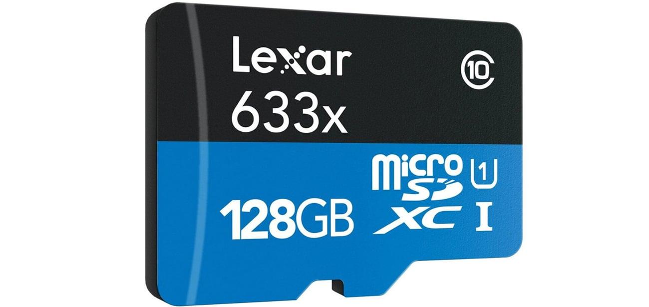 Lexar 128GB microSDXC 633x 95MB/s - jakość