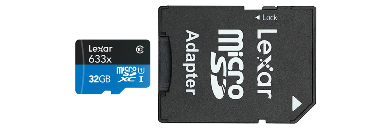 Lexar 32GB microSDHC 633x 95MB/s - adapter