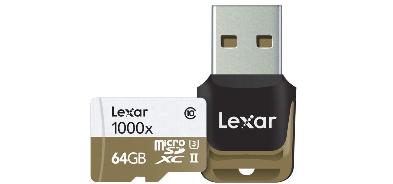 Lexar 64GB microSDXC 1000x 150MB/s  - cechy karty