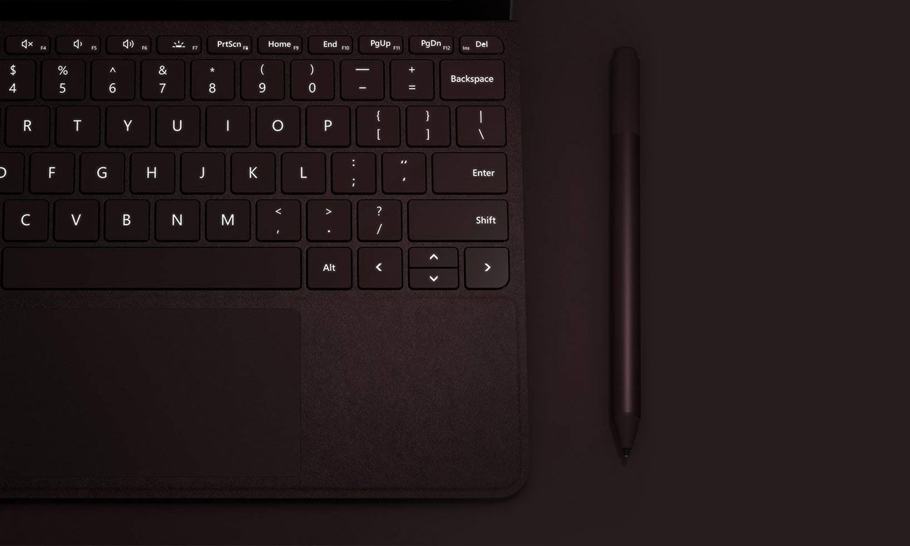 Signature Type Cover do Surface Go Burgundowa