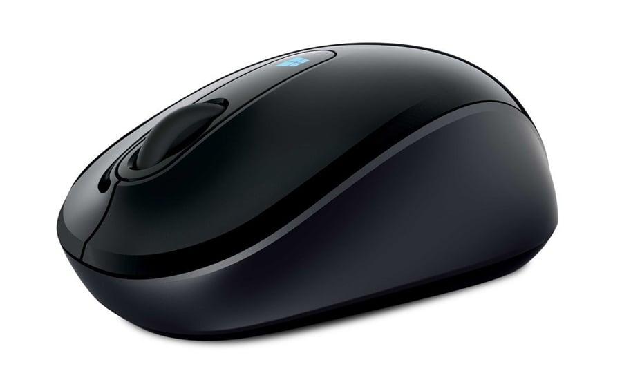 Myszka bezprzewodowa Microsoft Sculpt Mobile Mouse czarna 43U-00003 rzut izometryczny