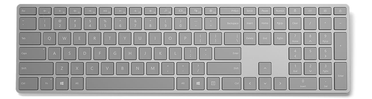 Klawiatura Microsoft Surface Keyboard Widok Z Góry