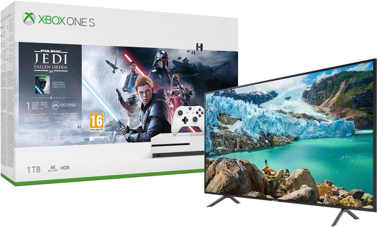Zestaw Xbox One S i Star Wars JEDI: Upadły Zakon + telewizor Samsung UE43RU7172