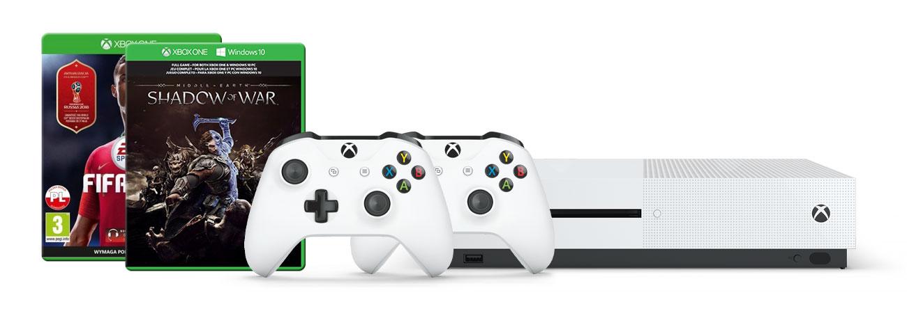 Zestaw Xbox One S i PUBG +FIFA18 +Pad