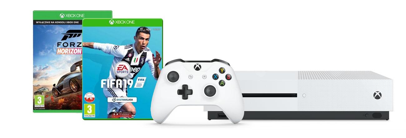 Zestaw Xbox One S i FIFA19 i Forza Horizon 4