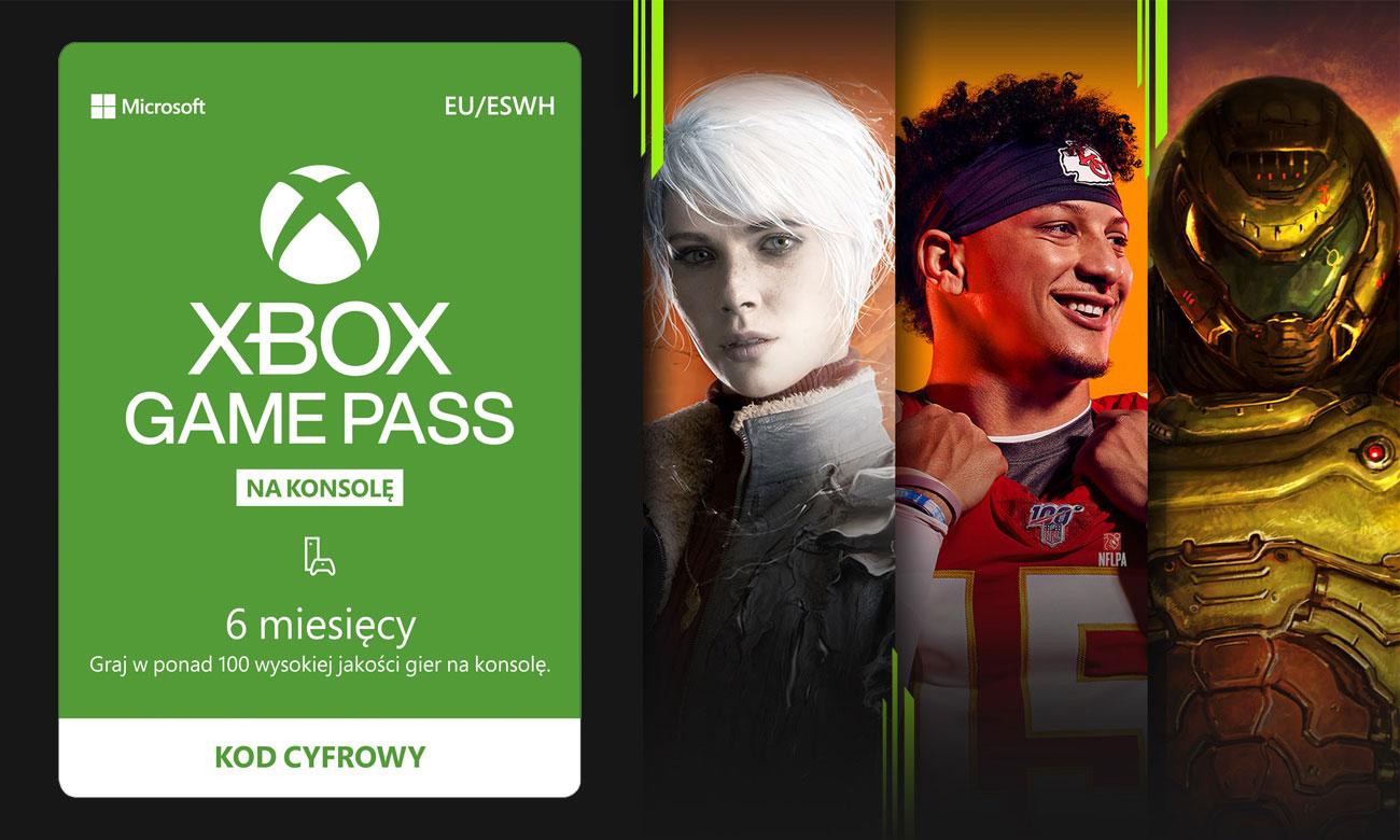 Microsoft Abonament Game Pass 6 miesięcy ESD S3T-00004